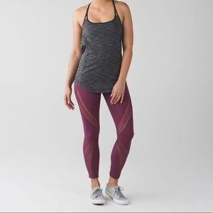 Lululemon High Times Metta Mesh - in Red Grape